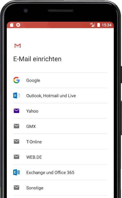 E-Mail-Kontotypen Gmail