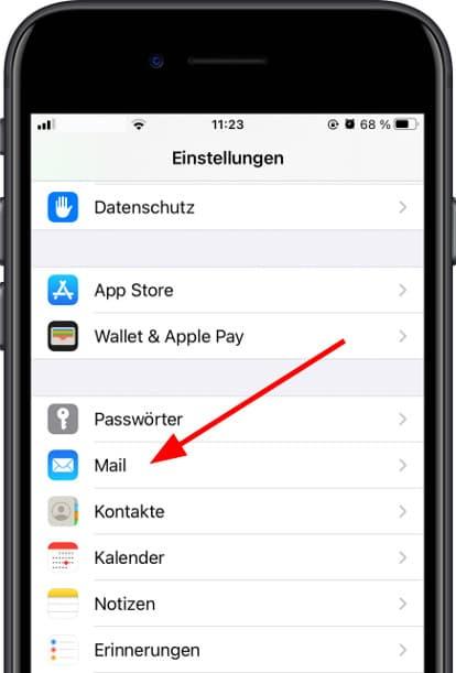 Mail-Konfiguration Apple iPad Pro 10.5