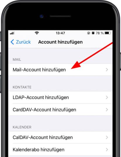 E-Mail-Konto hinzufügen Apple iPad Pro 10.5