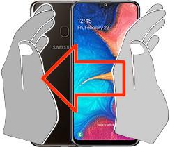 Screenshot auf dem  Samsung Galaxy A20