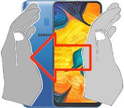 Screenshot auf dem  Samsung Galaxy A30