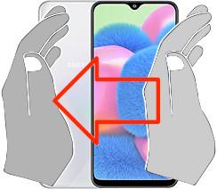 Screenshot auf dem  Samsung Galaxy A30s