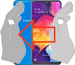 Screenshot auf dem  Samsung Galaxy A50