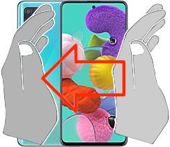 Screenshot auf dem  Samsung Galaxy A51