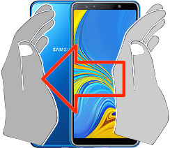 Screenshot auf dem  Samsung Galaxy A7 (2018)
