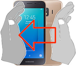 Screenshot auf dem  Samsung Galaxy J2 Core